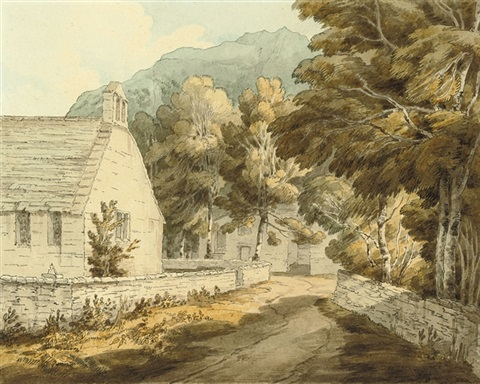 the chapel at borrowdale, cumberland by john white abbott