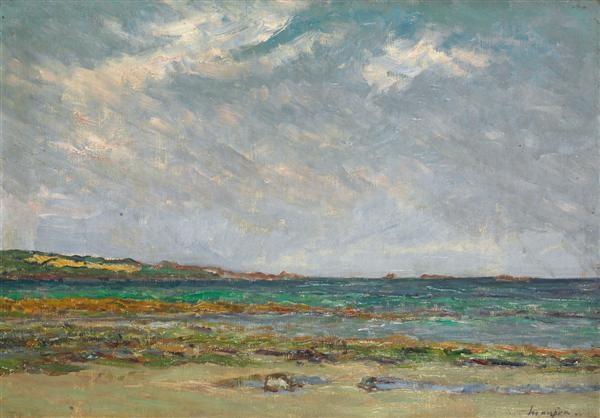 plage de saint jean du doigt à marée basse by maxime maufra