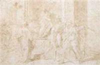 la capture de saint jean-baptiste (after andrea del sarto) by andrea boscoli