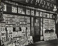 heyman's butcher shop, new york by berenice abbott