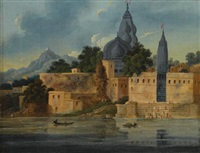visnupad temple at hindu gaya by charles (sir) d'oyly