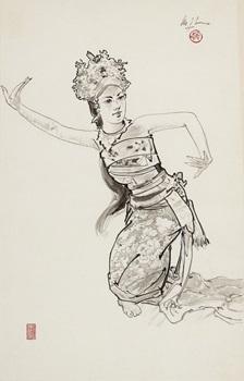 balinese dancer by lee man fong