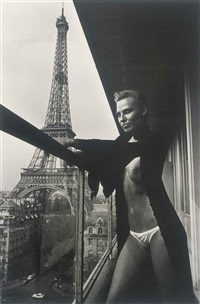 on the 10th floor of the hilton, paris by helmut newton