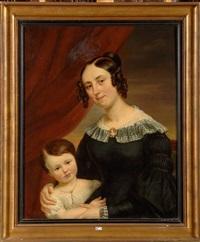 portrait de thérèse beyaert et de sa fille elvina by charles picque