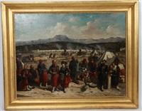 scène de campement militaire de la guerre de crimée by anonymous (19)