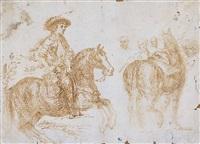 felipe iv a caballo y cuadro de las lanzas (estudio) by diego rodríguez de silva y velásquez