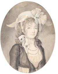 portrait présumé de madame sergent dite emira, née marie marceau desgraviers, plus tard madame champion de cernel by antoine louis françois sergent-marceau