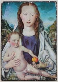 maria mit dem kind (mitteltafel des kleinen portinari-triptychons) by hans memling