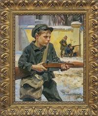 young lwow defender by wojciech kossak and michal gorstkin-wywiorski