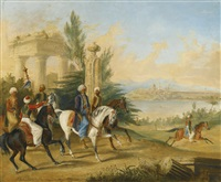 noblemen before constantinople by george henry laporte