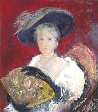 la mujer de la capelina negra by alberto trabucco