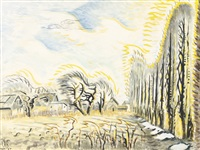 february wind and sunlight (the wind harp) by charles ephraim burchfield