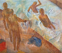 bathing boys by kuz'ma sergeevich petrov-vodkin
