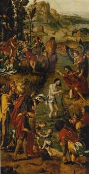 the baptism of christ by jan swart van groningen