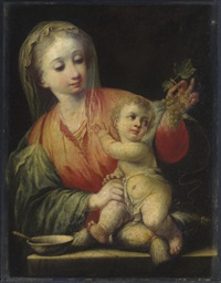 madonna of the grapes by andrea celesti