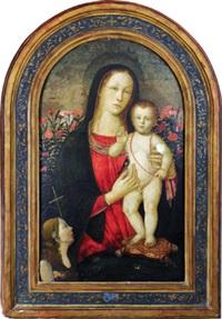 madonna mit kind -madonna con bambino by jacopo del sellaio