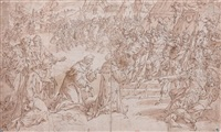 allégorie à l'antique de la reddition de calais by hendrick de clerck