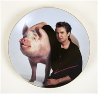 self portrait with a pig by jeff koons