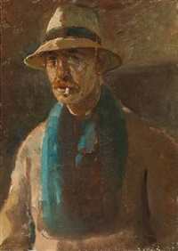 the artist's selfportrait by julius paulsen