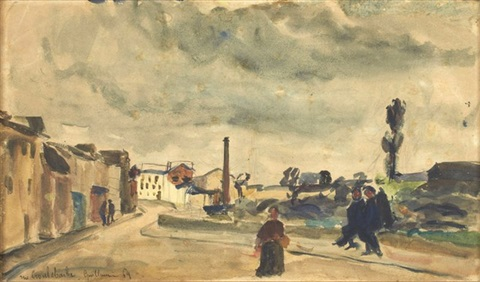 la rue croulebarbe à paris by armand guillaumin