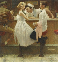after the prom by norman rockwell