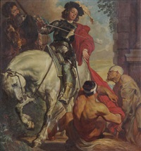 saint-martin à cheval (after antoon van dyck) by médard tytgat