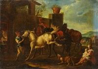 le cheval rétif by pieter van bloemen