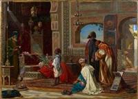 recueillement au tombeau des ancêtres en egypte by jan baptist huysmans