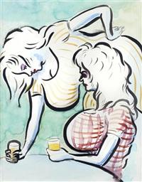 café girls by john currin