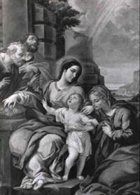sacra famiglia e santi by girolamo pesci