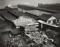 hoboken ferry terminal, barclay street, new york by berenice abbott