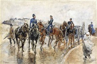 returning from the manoevers by george hendrik breitner
