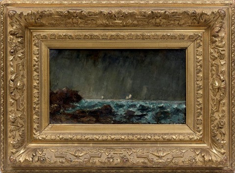 marine, gros temps (collab.) by gustave courbet