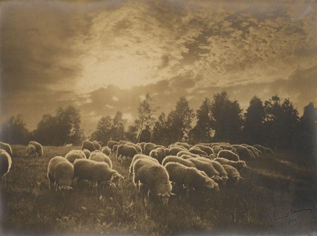 au coucher du soleil by léonard misonne