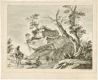 suite de dix paysages, gravés à l'eau-forte, par boissieu, peintre (set of 8) by jean-jacques de boissieu