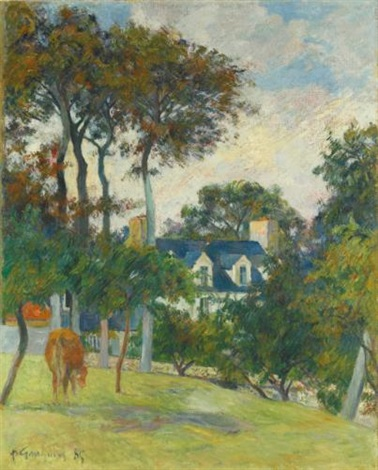 la maison blanche by paul gauguin
