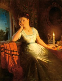 lady by candlelight by gerrit jan derens