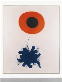 red and blue by adolph gottlieb