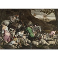 jacob's journey by jacopo and francesco bassano