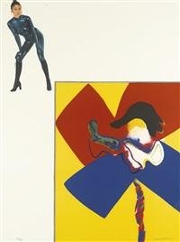 album: portrait one to seven (lloyd 60a-g) (portfolio of 7 works) by allen jones