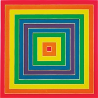 concentric square by frank stella
