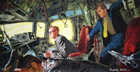 disaster in the cockpit (illus. for august issue of redbook) by john mcdermott