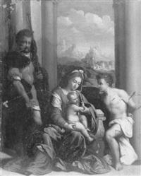 la vierge à l'enfant entre saint roche et saint sébastien by italian school-ferrara (17)