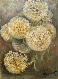 dandelions by claude monet