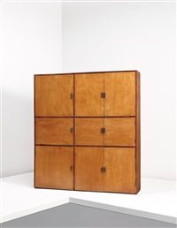 unique cabinet, model no. lc-ah-08-a (from the mill owners association building, ahmedabad) by b. doshi and le corbusier