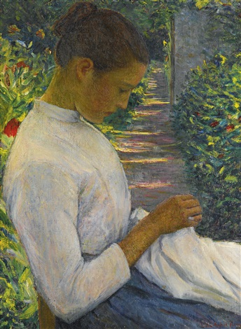 eugenie in the garden by lilla cabot perry