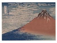 red fuji, japan by katsushika hokusai