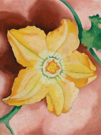 squash blossom by georgia okeeffe