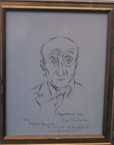 le portrait de max jacob by roger toulouse
