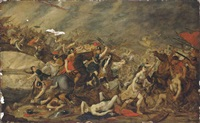 the battle of the amazons by hans jordaens iii